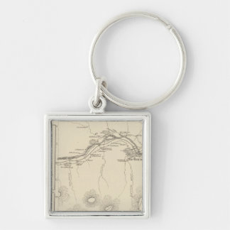Shelburne, Coos Co Silver-Colored Square Key Ring
