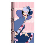 Shelby, 1930s Lady in Pink and Blue Pack Of Standard Business Cards