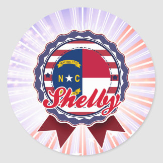 Shelby, NC Round Sticker