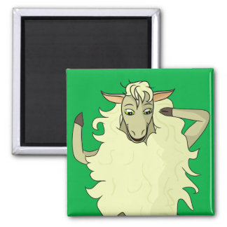 Shelby Sheep Square Magnet