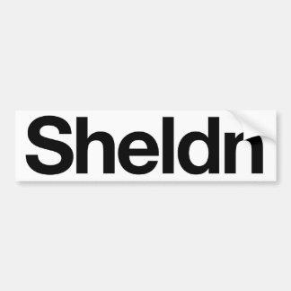 Sheldn bumper sticker