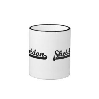 Sheldon Classic Retro Name Design Ringer Mug