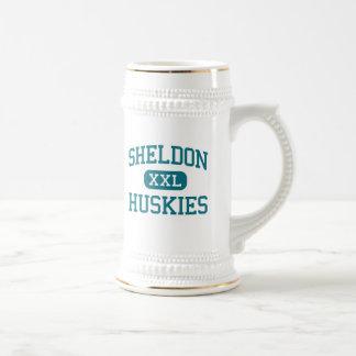 Sheldon - Huskies - High - Sacramento California 18 Oz Beer Stein
