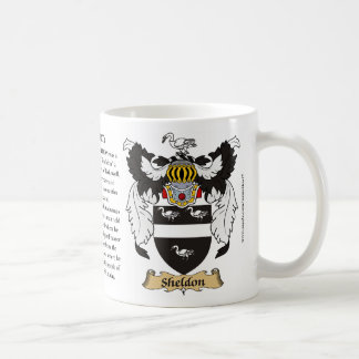 Sheldon, the Origin, the Meaning and the Crest Basic White Mug