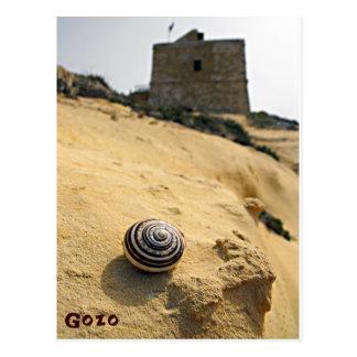 Shell and Tower, Gozo, Malta Postcard