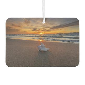 Shell At The Beach At Sunset | Kos Island Car Air Freshener