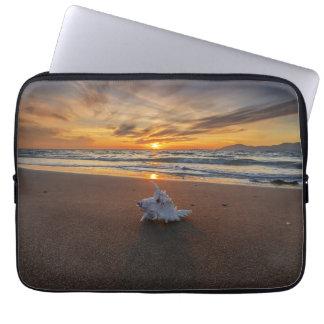 Shell At The Beach At Sunset | Kos Island Laptop Sleeve