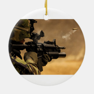Shell Casing Fired from an M-4 Rifle Christmas Ornament
