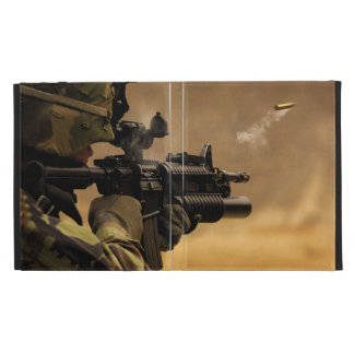 Shell Casing Fired from an M-4 Rifle iPad Folio Cover