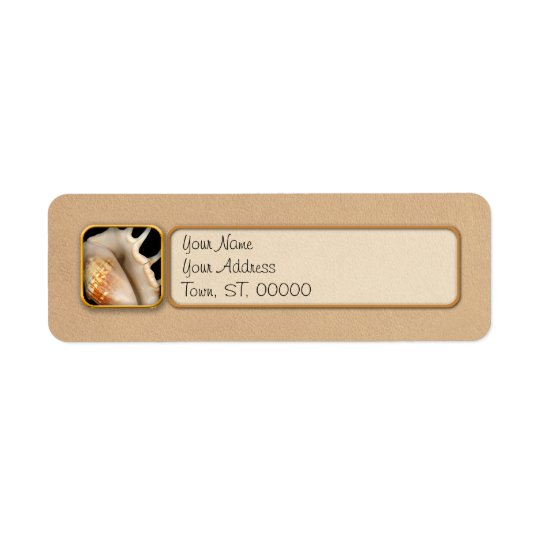 Shell - Conchology - Conch Return Address Label