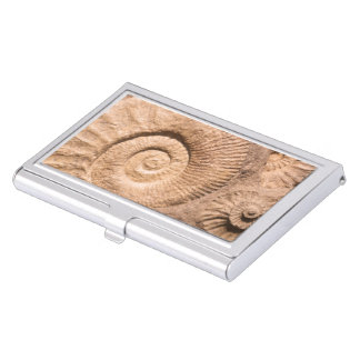 Shell Fossils Business Card Holder