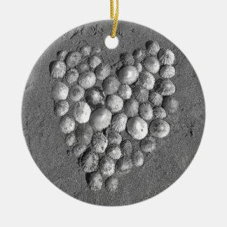 Shell Heart Mosaic Christmas Ornament