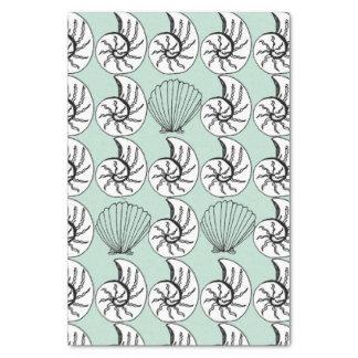 Shell Nautilus Scallop Nautical Beach Tissue Paper