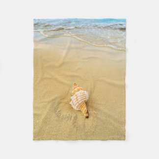 Shell On Beach | Jamaica Fleece Blanket