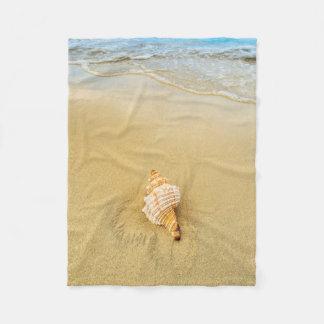 Shell On Beach | Jamaica Fleece Blanket