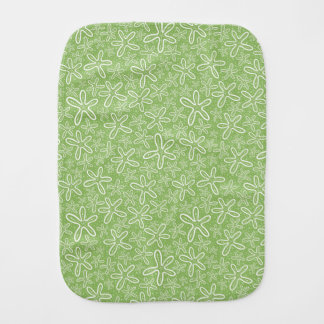 Shell Pattern On Spotted Background Burp Cloth