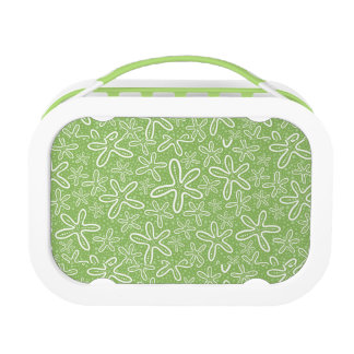 Shell Pattern On Spotted Background Lunch Box