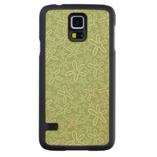 Shell Pattern On Spotted Background Maple Galaxy S5 Slim Case