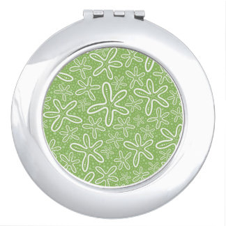 Shell Pattern On Spotted Background Mirrors For Makeup