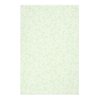 Shell Pattern On Spotted Background Personalized Stationery