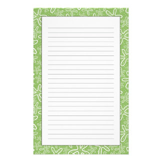 Shell Pattern On Spotted Background Stationery