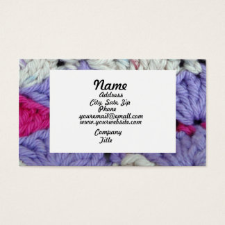 Shell Stitch Knitted Business Card