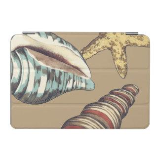 Shell Trio on Khaki iPad Mini Cover