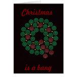 Shell wreath Christmas, is a bang card