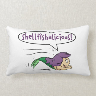 """Shellfishalicious!"" Lumbar Throw Pillow"