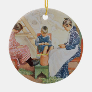 Shelling Peas, pub. in 'Lasst Licht Hinin'(`Let in Christmas Ornament