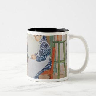 Shelling Peas, pub. in 'Lasst Licht Hinin'(`Let in Two-Tone Coffee Mug