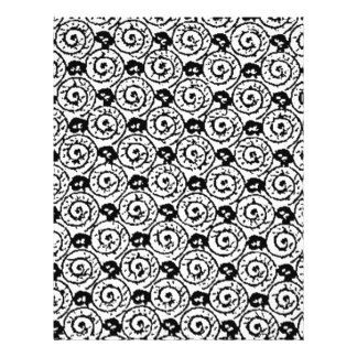 Shells and Flowers Black and White 21.5 Cm X 28 Cm Flyer