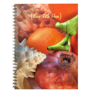 Shells and Fruits still-life Spiral Note Books
