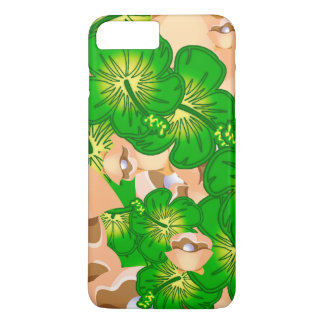 Shells and hibiscus iPhone 7 plus case