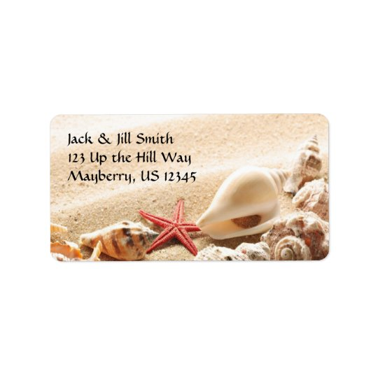 Shells and Starfish Address Label