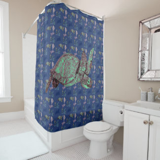 Shells and Turtles Shower Curtain