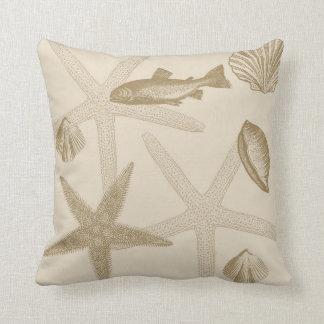 Shells Throw Pillows