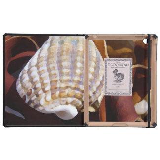 Shells from the ocean iPad folio case