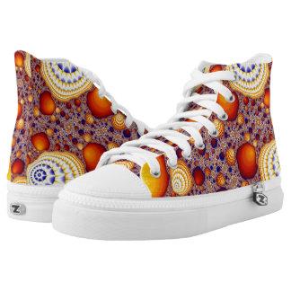 Shells Hi Top Printed Shoes