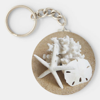 Shells in the Sand Key Ring