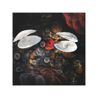 Shells on a Bubble background Canvas Print