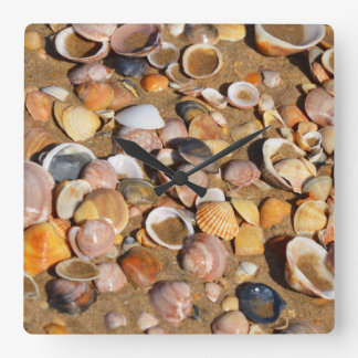 Shells On A Sandy Beach | Andalusia, Spain Wallclock