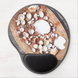 Shells on Carved Board Photo Gel Mousepad