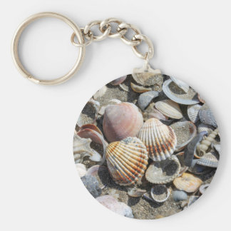 shells on the beach key ring