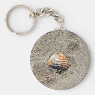 shells on the beach key ring