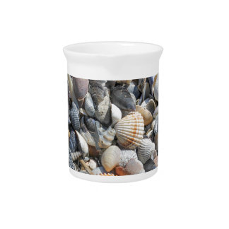 shells on the beach pitcher