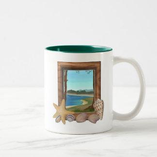 Shells Two-Tone Coffee Mug