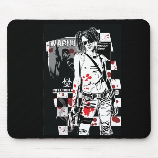 Shelly-Zombie-Hunter Mouse Pad