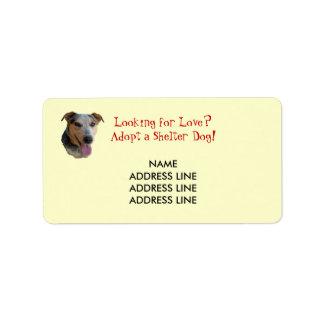 Shelter Dog Adoption - Western Return Address Address Label