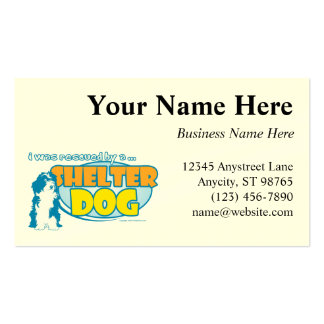 Shelter Dog Double-Sided Standard Business Cards (Pack Of 100)